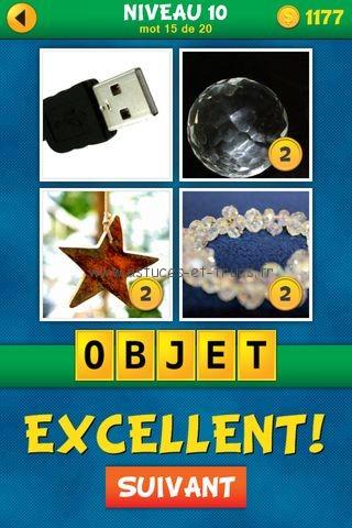 Solutions 4 Images 1 Mot Plus Français – Niveau 10, astuces et ...