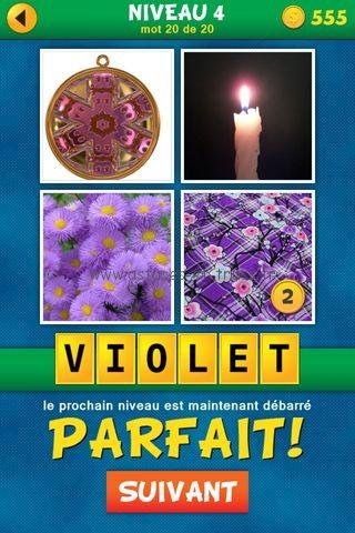 ... Solutions 4 Images 1 Mot plus Français Niveau 4, astuces et trucs