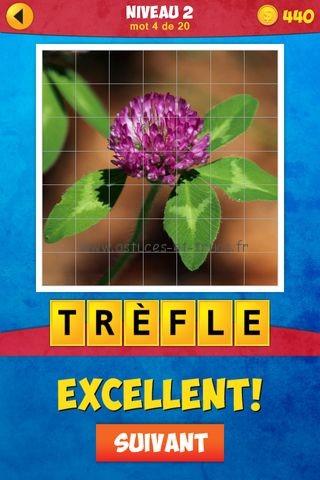 Solutions 1 Image 1 Mot niveau 2, astuces et trucs